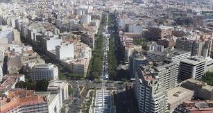 Vista aérea de la ciudad de Almería.