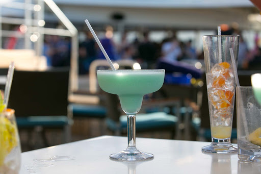 A tropical drink served poolside aboard Holland America's ms Westerdam.
