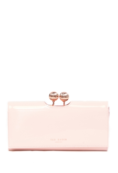 Genti Femei Ted Baker London Bobble Patent Leather Wallet LIGHT PINK