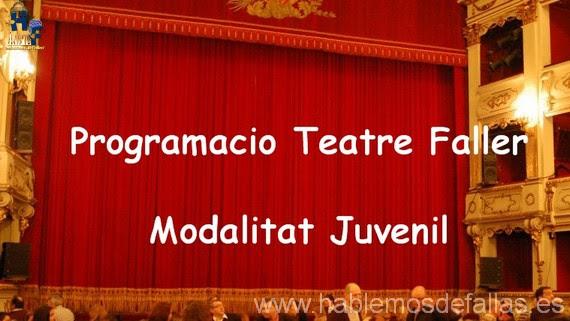 Programacio Teatre Faller 2017 día 1 d'Octubre #TeatreFaller
