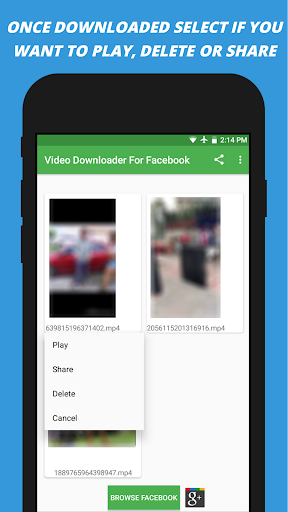 Video Downloader for facebook 2.2 screenshots 4