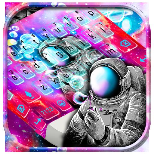 Galaxy Astronaut Keyboard Theme Icon