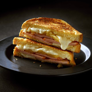 Hawaiian Grilled Cheese and Canadian Bacon Sandwich
