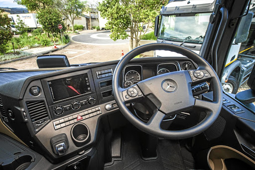 The dashboard features plenty of technology and a good driving position. Picture: MERCEDES-BENZ SA