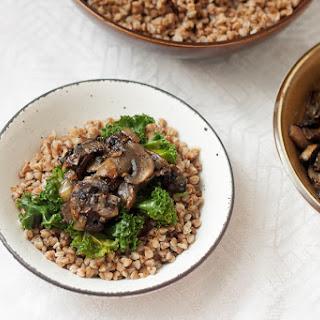 Buckwheat Kasha With Camarelized Mushrooms And Onions.
