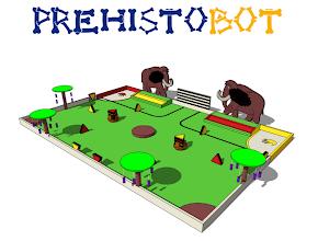 Photo: La saison de Robotique 2013/2014 a démarré. Cette année les robots vont remonter le temps jusqu'en préhistoire pour collecter des fruits, allumer du feu, peindre des fresques, chasser et capturer des mammouths.  Le reglement est disponible ici. http://www.planete-sciences.org/robot/data/file/coupe/2014/Rules2014%20-%20Version%20finale%20-%20Eurobot.pdf