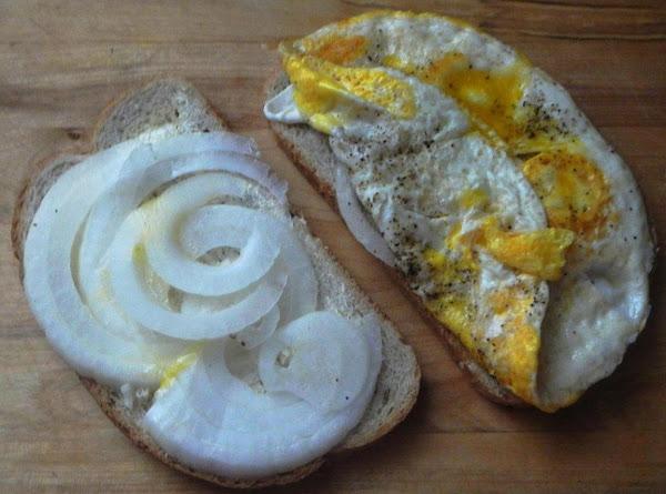 Quickie Horsie Egg & Sweet Onion  Sandwich Recipe
