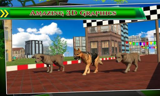 犬のレーシング3D