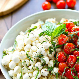 Bursting Tomato Caprese Cauliflower Rice Salad