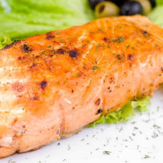 Marinated Grilled Salmon.
