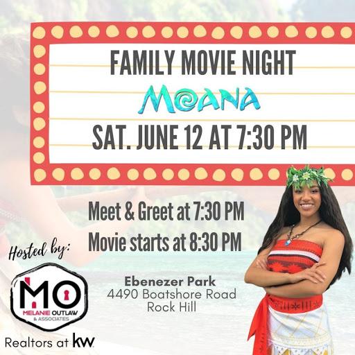 Family Movie Night at Ebenezer Park in Rock Hill: Moana