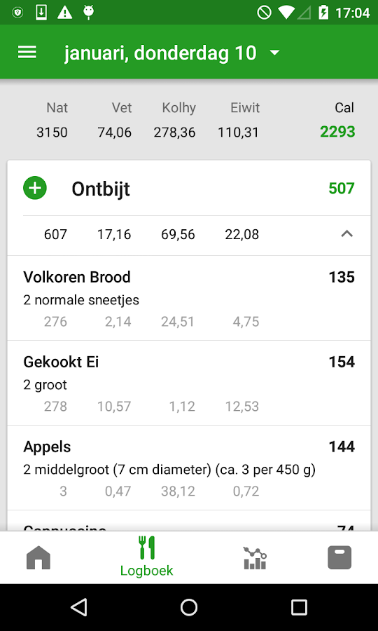 CalorieTeller door FatSecret: screenshot