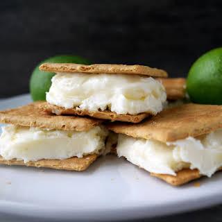Key Lime Stuffed Graham Cracker Dessert Sandwiches.