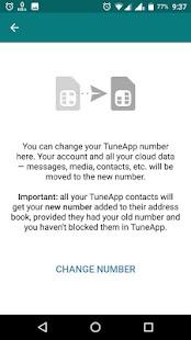 TuneApp Messenger - náhled