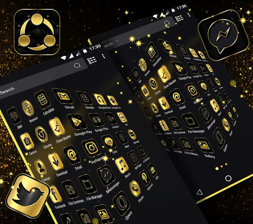 Gold Black Launcher Theme 2.1 3