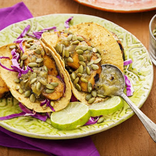 Tacos With Grilled Plantains