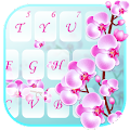 Orchid Flowers Lovely Keyboard Theme APK