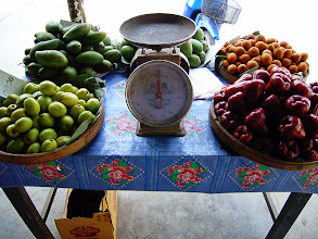 Photo: Scales+FoodFriday curated by +D. DeMonteverde +Natty Netsuwan +Moon Lee +Jenn Oliver #FoodFriday :-Tropical fruits sit by a set of old scales on a makeshift stall in a village within a region known as Omkoi (Chiang Mai Province) in Northern Thailand. I was always fascinated looking at the various fruit that grew in the Kingdom, everything seemed so different and alien compared to what I was used to in the UK. Just looking at this image evokes the smells and sounds of the village and above all makes me think of the heat from the afternoon sun on my skin. I miss the village very much .. and everybody in it.  Photography by Justin Hill ©