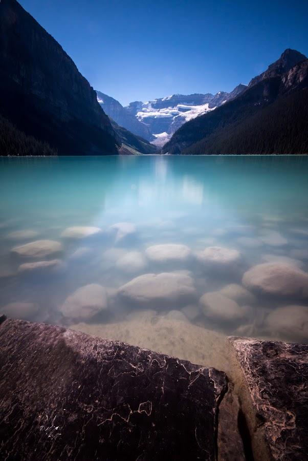 Lake Louise by Glenn Angel - Landscapes Mountains & Hills ( lake louise, reflection, mountains, alberta, kananaskis, banff )