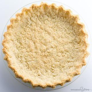 Almond Flour Pie Crust Recipe - 5 Ingredients (Paleo, Low Carb, Gluten-free).