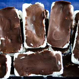 Chocolate Peanut Butter Coconut Freezer Bars