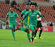 Mpho Kgaswane of Baroka FC celebrate scoring a goal during the Absa Premiership match between Baroka FC and Cape Town City FC at Peter Mokaba Stadium on February 27, 2018 in Polokwane, South Africa.