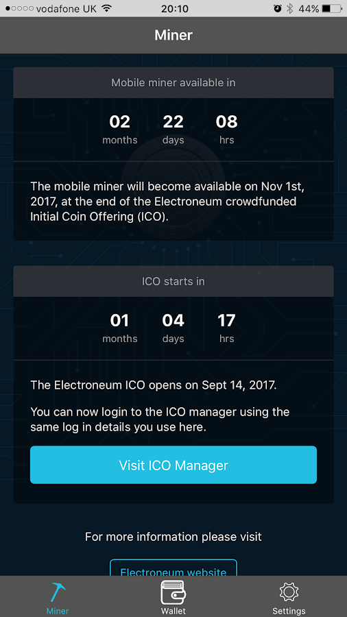 Electroneum: Android Wallet & Miner