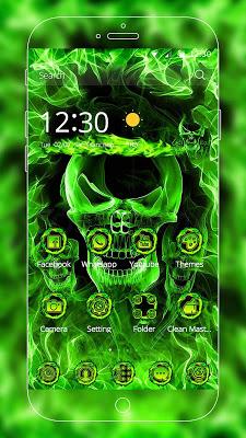 Hell Skull Fire Theme - screenshot