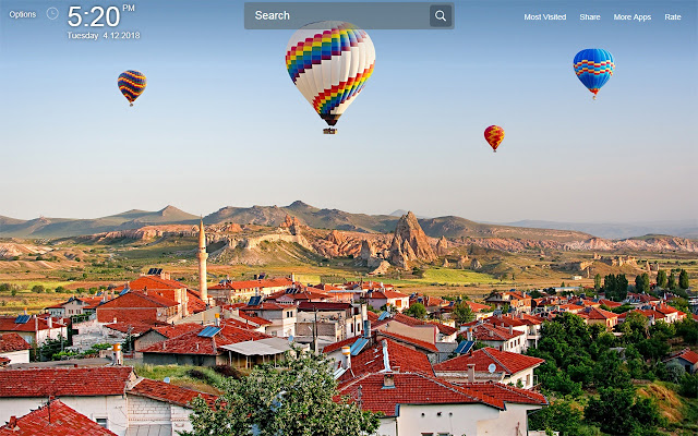 Air Balloon Wallpapers New Tab Theme
