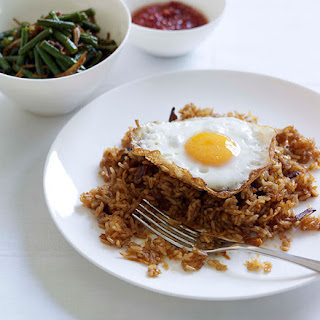 Indonesian Fried Rice With Snake Bean Relish.