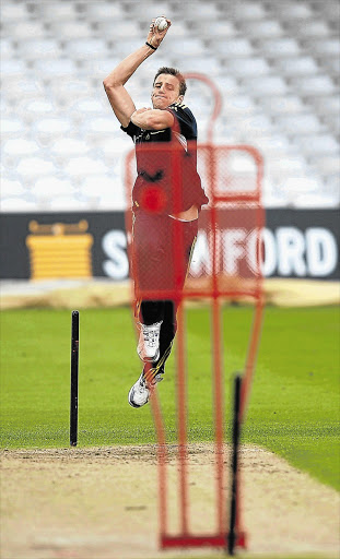 South Africa's Morne Morkel practises his short ball in the nets at Trent Bridge in Nottingham, England, yesterday Picture: LAURENCE GRIFFITHS/GALLO IMAGES