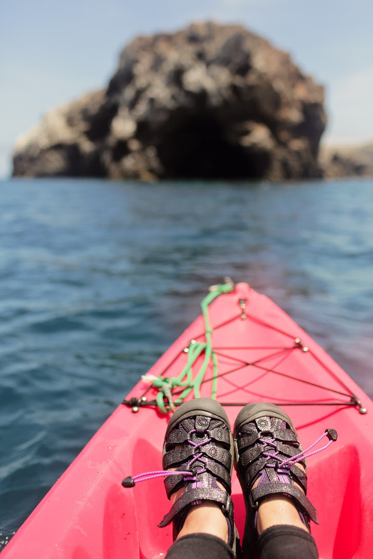 Kayaking Channel Islands California.