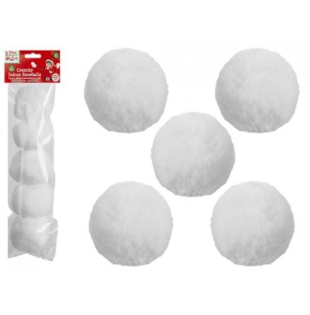 5-pack Snöbollar för inomhusbus