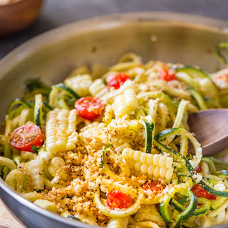Sautéed Zoodles With Toasted Panko Crumbs
