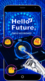 Hello Future Theme&Emoji Keyboard - náhled
