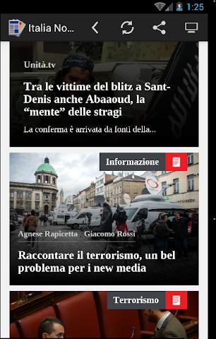 android Quotidiani Italiani Screenshot 0