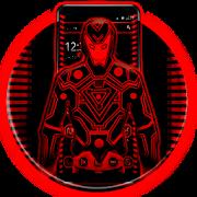 Neon Red Iron Man Theme APK