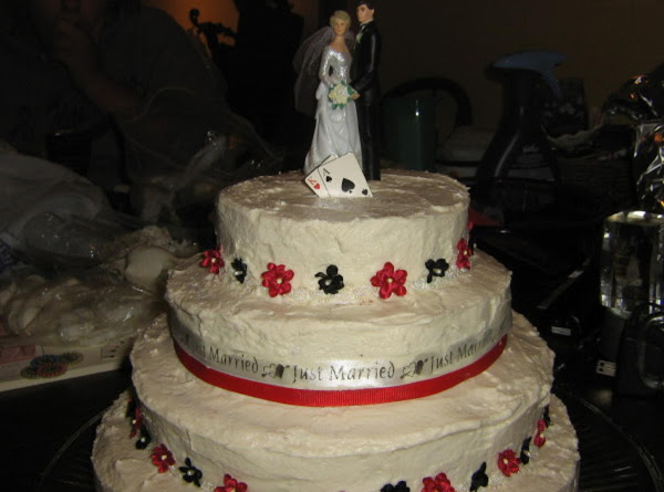 My Neices Wedding Cake. It Is Chocolate Everyother Layer Recipe