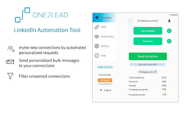 One2Lead - LinkedIn Automation Tool