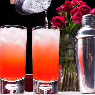 Pink Gin Fizz.