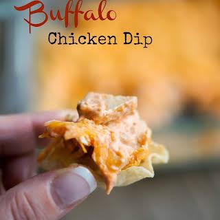 Reduced Fat Buffalo Chicken Dip.