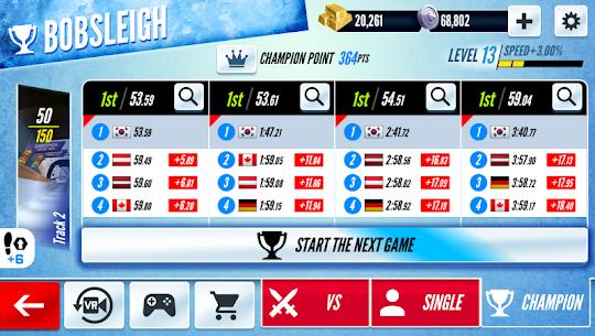 Sleigh Champion : Winter sports 2