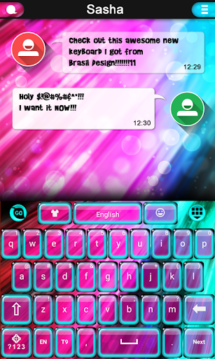 Super Neon Color Keyboard