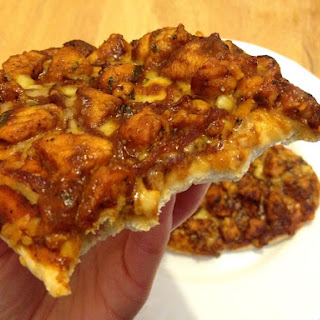 Quick and lazy Caribbean jerk BBQ chicken pizza