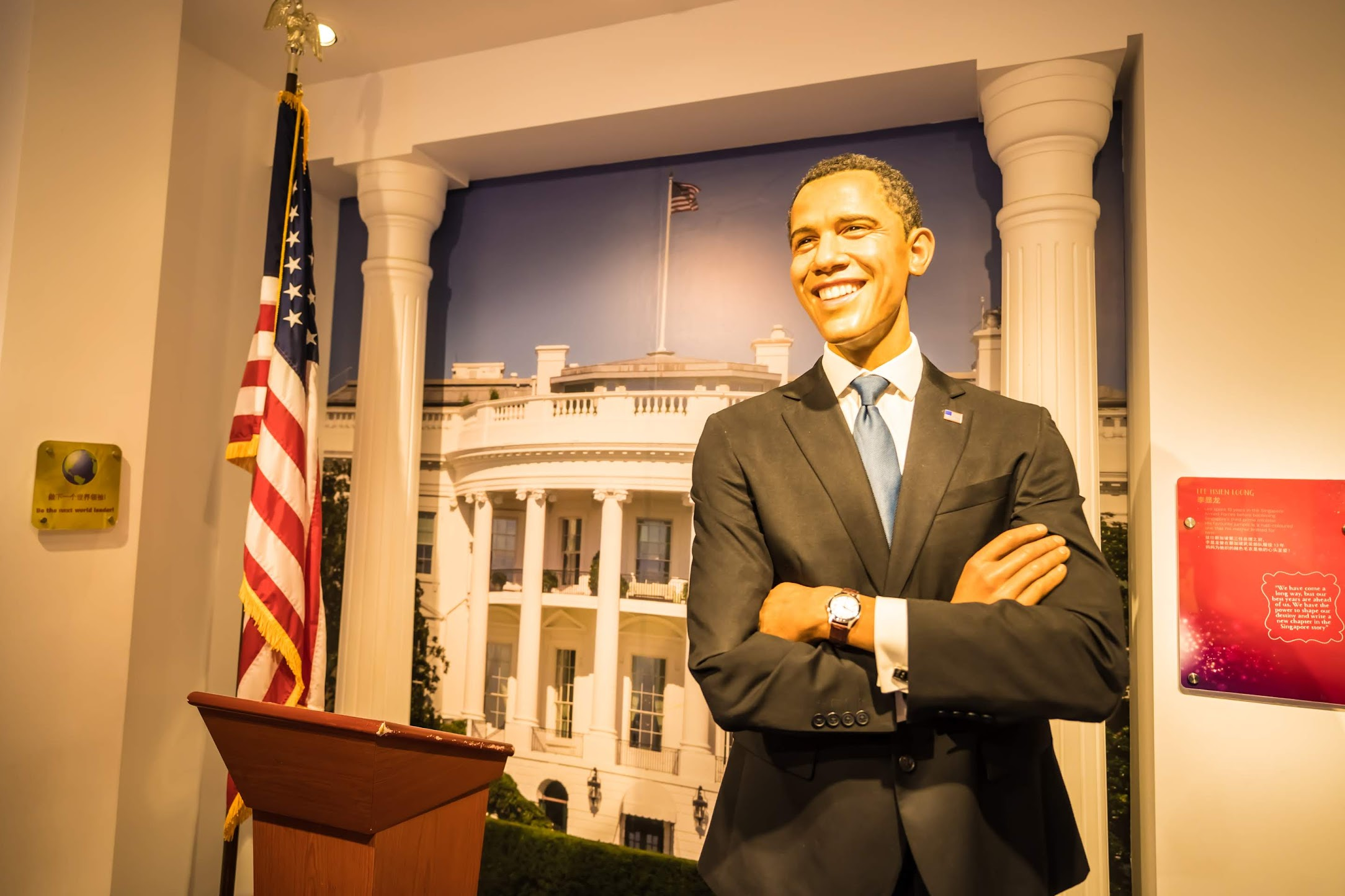 Singapore Sentosa Island Madame Tussauds Singapore Barack Obama