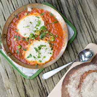 Poached Eggs in Harissa Tomato Sauce