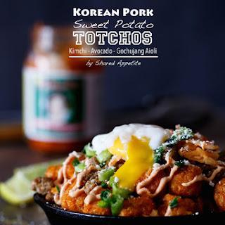 Korean Pork Sweet Potato Totchos.
