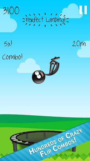 Stickman Trampoline FREE Backflip Jump Flip Master 4.8.1 screenshots 1