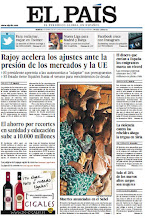 Photo: Rajoy acelera los recortes presionado por los mercados, la tregua en Siria ahogada en sangre y récord de remesas de emigrantes, en la portada de este martes http://srv00.epimg.net/pdf/elpais/1aPagina/2012/04/ep-20120410.pdf