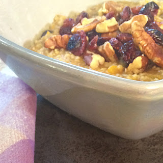 Pressure Cooked Pumpkin Spice Steel Cut Oats